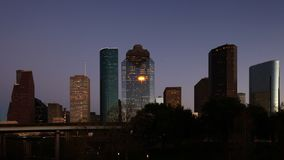 Houston, Texas skyline, a twilight timelapse 4K. The Houston, Texas skyline, a twilight timelapse 4K stock video