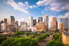 Houston Texas Skyline. Houston, Texas, USA downtown city park and skyline royalty free stock photo