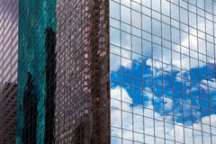 Houston Texas urban city with modern mirror skyscapers Stock Photo