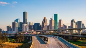 Houston, Texas, USA Skyline and Highway stock video