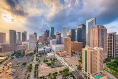 Houston, Texas, USA, Downtown City Skyline. Houston, Texas, USA downtown city skyline at sunset royalty free stock images