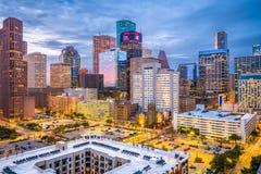 Houston, Texas, USA. Downtown cityscape at dusk stock photos