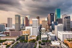 Houston Texas, USA horisont royaltyfria bilder