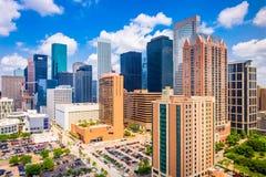 Houston Texas, USA horisont Fotografering för Bildbyråer