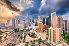 Houston Texas, USA horisont royaltyfri bild