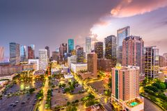 Houston, Texas, USA. Downtown city skyline stock images