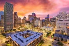 Houston, Texas, USA. Downtown cityscape at dusk stock photography