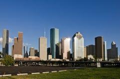 Houston, TX im Stadtzentrum gelegene Skyline Lizenzfreie Stockfotografie