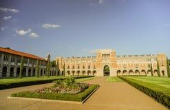 HOUSTON, TX - OCTOBER 10, 2013: Inside the courtyard of the Rice University, Houston, Texas Royalty Free Stock Photo