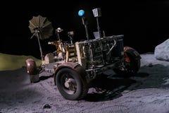 Houston, TX/USA - vers en juillet 2013 : Espacez le vagabond utilisé pour l'exploration de lune dans Lyndon B Johnson Space Cente Photo stock