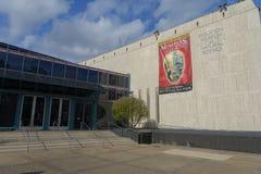 HOUSTON USA - JANUARI 12, 2017: Beskåda utifrån av byggnaden på det nationella museet av naturvetenskap i Orlando Arkivfoto