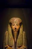 HOUSTON USA - JANUARI 12, 2017: Sarkofag på den forntida Egypten i nationellt museum av naturvetenskap i Orlando Arkivfoton