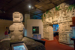 HOUSTON, USA - JANUARY 12, 2017: Indian art with zone Maya structures inside of the National Museum of Natural Science Royalty Free Stock Image