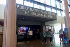 HOUSTON, USA - JANUARY 12, 2017: Unidentified people walking near Burke Baker planetarium at National Museum of Natural Stock Photography