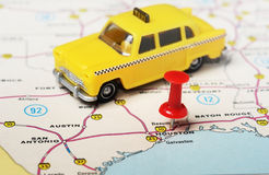 Houston  USA map taxi Royalty Free Stock Photography