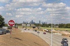 Houston van een snelwegsnelheid stock fotografie