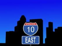 Houston-zwischenstaatliches Zeichen 10 lizenzfreie abbildung