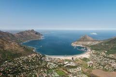 Hout海湾开普敦,南非鸟瞰图 免版税库存图片