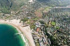 Hout海湾开普敦,南非鸟瞰图 免版税库存照片