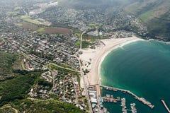Hout海湾开普敦,南非鸟瞰图 库存图片
