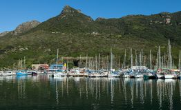 Hout海湾的,南非小游艇船坞 免版税库存照片