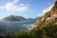 Hout Bay. Image of Hout Bay, surrounded by rising mountains near Cape Town in South Africa Royalty Free Stock Photography