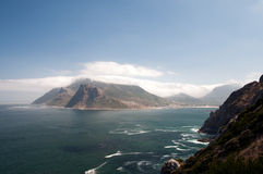 Hout Bay. Overall view of hout bay from chapman's peak, south africa Stock Photo