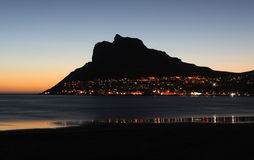 Hout bay. Village near Cape Town South Africa at sunset Stock Photography