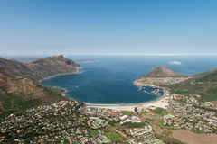Hout Bay Cape Town, South Africa aerial view Royalty Free Stock Image