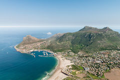 Hout Bay Cape Town, South Africa aerial view Royalty Free Stock Images