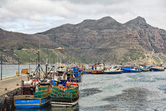 Hout Bay Harbour and Chapman's Peak, Cape Town Stock Photography