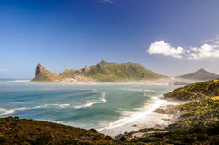 Hout Bay seen from Chapman's Peak Drive - Cape Town, South Africa Stock Image