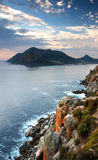 Hout Bay South Africa. A view of Hout bay on the cape peninsula as see from Chapman's peak Stock Image