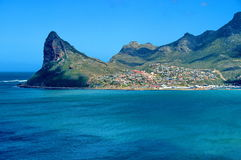 Hout Bay town, look from Chapmans peak Royalty Free Stock Photography