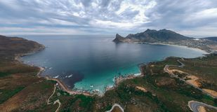 Hout Bay, Western Cape, South Africa. The beautiful coastline of the Western Cape Peninsular, South Africa royalty free stock photo