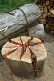 Hout - brandhout Royalty-vrije Stock Foto's