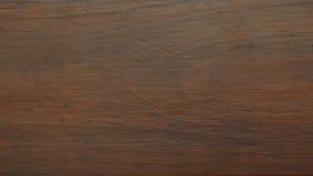 Hout Bruine houten plank als achtergrondtextuur stock video