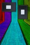 Hout en frame Stock Afbeelding
