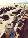 Hout en Golven bij Hossegor-Strand in Frankrijk Royalty-vrije Stock Afbeeldingen
