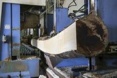 Hout en meubilairproductie-installatie, industriële fabriek met ook Stock Afbeelding