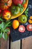 Hout en voedsel Stock Foto's