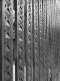Hout gebeeldhouwde kolommen Stock Foto's