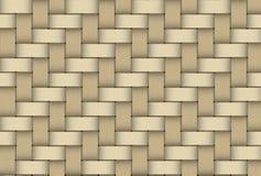Hout geweven het patroonhoed van het textuurstro Stock Afbeelding