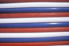 Hout met Kleuren van Amerikaanse Vlag, Utah wordt geschilderd dat Royalty-vrije Stock Foto's