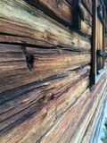 Hout, oud huis, hout Royalty-vrije Stock Afbeelding