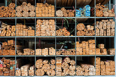 Hout in pakhuis Royalty-vrije Stock Foto