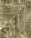 Hout Textuur van grijze witte bruine papieren zakdoekje, achtergrond of textuur Stock Foto's