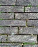 Hout van baksteen Stock Foto