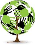 Hout van palmen royalty-vrije illustratie