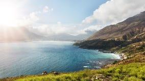 Hout zatoka od Chapman szczytu przejażdżki, Południowa Afryka Obrazy Royalty Free
